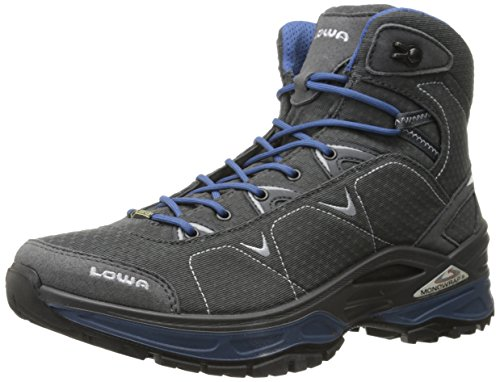 Lowa Men's Ferrox GTX Mid Trail Boot, Graphite/Blue, 8 M US