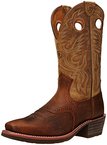 Ariat Men's Heritage Roughstock Square Toe Western Boot,  Earth/Brown Bomber,  13 D US