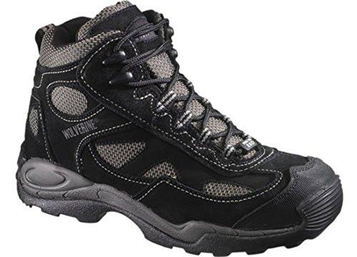 Wolverine Men's 6″ Slip Resistant Steel Toe Static Dissipating Athletic Boots, BLACK, 8.5