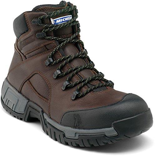 Michelin Men's Hydroedge Hitop Steel Toe Boots,Brown,8.5 M