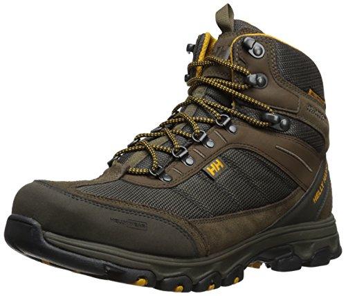 Helly Hansen Men's Rapide Cordura HT Waterproof Mid Cut Hiking Boot, Espresso/Walnut/Ocra Sand/Black, 10.5 M US