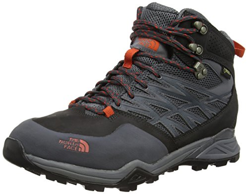 The North Face Hedgehog Mid GTX Hiking Boot – Men's Dark Shadow Grey/Zion Orange, 11.5