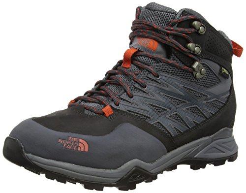 The North Face Hedgehog Mid GTX Hiking Boot – Men's Dark Shadow Grey/Zion Orange, 11.5