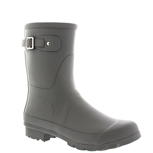 Mens Original Short Plain Rubber Fishing Ankle High Wellington Boots – 10 – GRE43 BL0187
