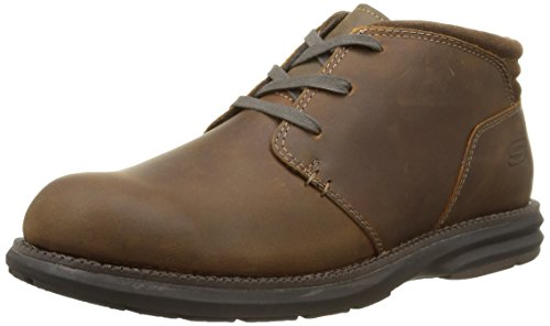 Skechers Volte Relaxed Fit Herick Mens Ankle Boots Dark Brown 9.5
