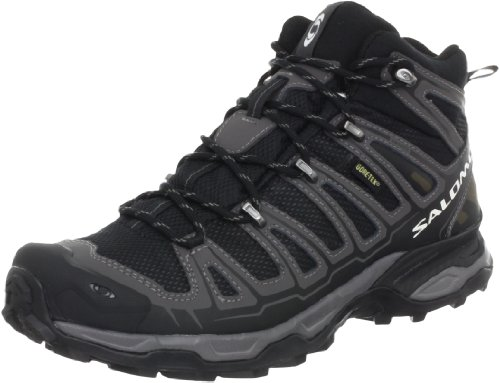 Salomon Men's X Ultra Mid GTX Trail Hiking Boot,Black/Autobahn/Detroit,9 M US