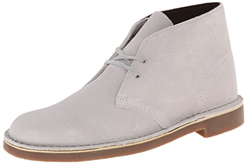 Clarks Men's Bushacre II Grey Suede Boot 11 D – Medium