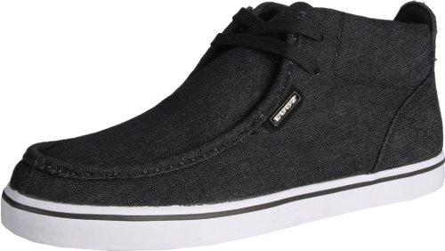 Lugz Men's Strider Denim Boot,Black/White Textile,10.5 D US