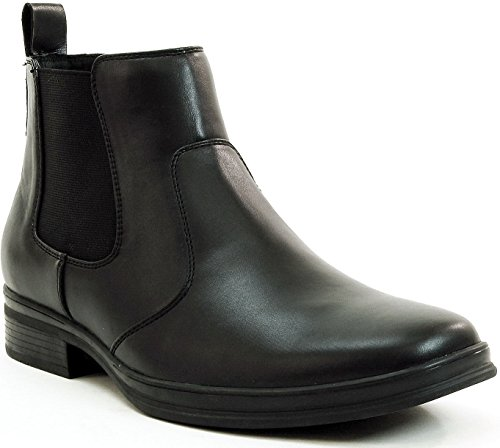 Alpine Swiss Mens Chelsea Boots Suede Lined Pull On Ankle Shoes Black 11 M US