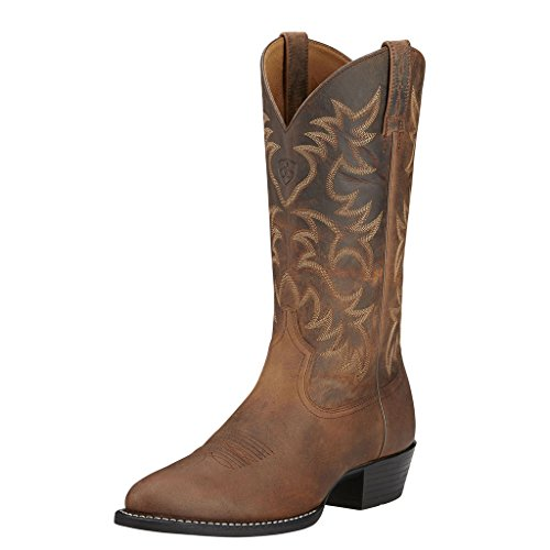 Ariat Men's Heritage Western R Toe Western Boot,  Distressed Brown,  10 D US