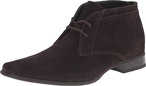 Calvin Klein Men's Ballard Suede Boot, Dark Brown, 12 M US