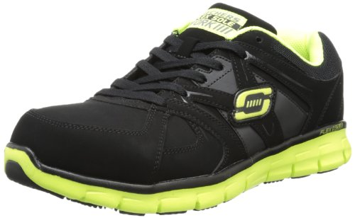 Skechers for Work Men's 76995 Synergy-Flex Gripper Steel Toe Work Shoe