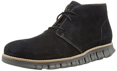 Cole Haan Men's Zerogrand Leather Chukka Boot, Black Suede, 11 M US
