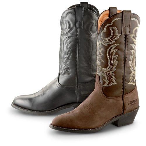 Guide Gear Men's 12 Inch Cowboy Boots, BLACK, 11 2E