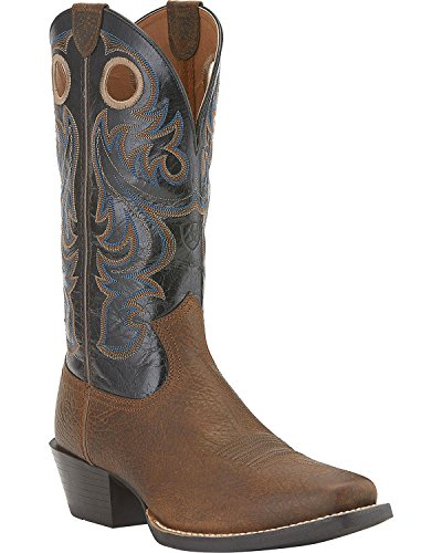 Ariat Men's Sport Square Toe Western Boot,  Earth/Black,  12 M US