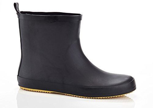 "SOLO Mens ""Ever Dry"" Low Cut Rubber Water Resistant Rain Boot Black 10"