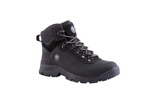 KINGSHOW Men's 1552-1 Waterproof Black Rubber Sole Work Boots 13 M US