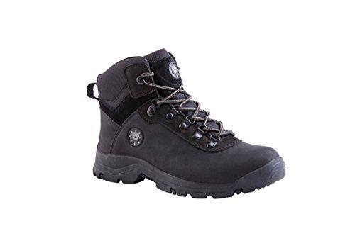 KINGSHOW Men's 1552-1 Waterproof Black Rubber Sole Work Boots 13 M US