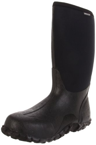 Bogs Men's Classic High Waterproof Insulated Rain Boot, Black