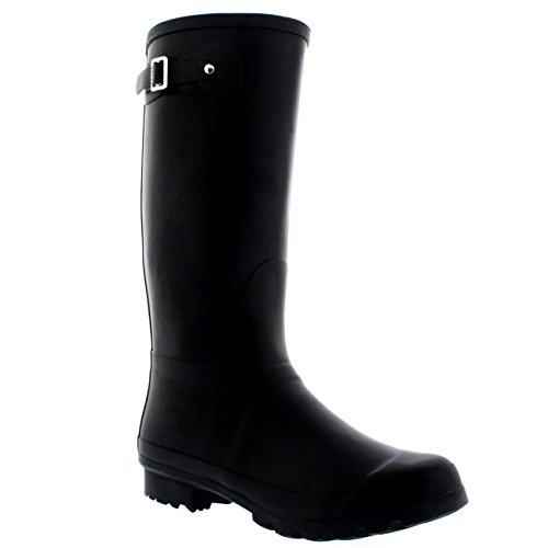 Mens Original Tall Plain Fishing Garden Rubber Waterproof Wellingtons – 10 – BLA43 BL0180