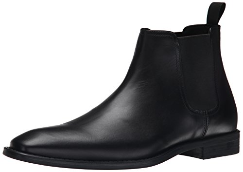 Donald J Pliner Men's Barton Chelsea Boot, Black Baby Calf, 9.5 M US