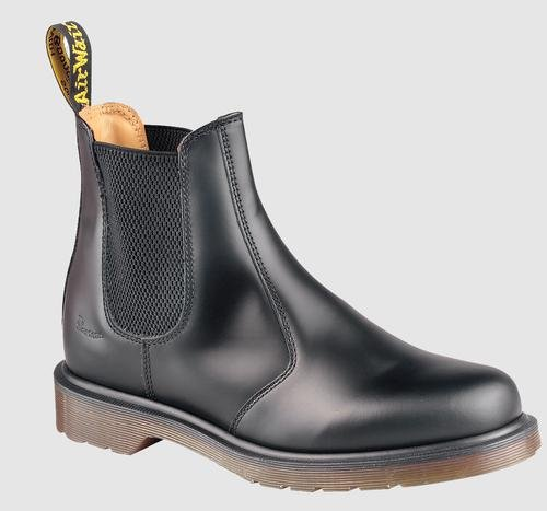 Dr. Martens 2976 Chelsea Boot,Black Smooth,11 UK (Women's 13 M US/Men's 12 M US)