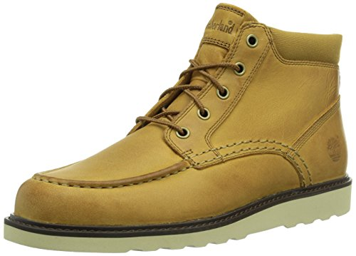 Timberland Men's Newmarket Wedge Moc Toe Chukka,Trapper Tan Nubuck,US 9.5 M
