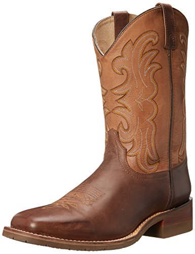 Dan Post Men's Lindbergh Western Boot, Dark Brown/Saddle Tan, 9.5 D US