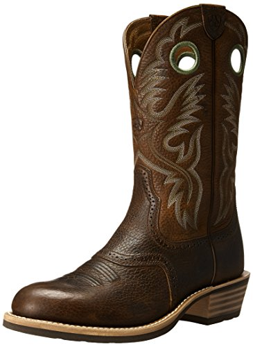 Ariat Men's Heritage Roughstock Western Boot,  Brown Oiled Rowdy,  11 D US