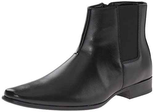Calvin Klein Men's Brogan Boot, Black, 8.5 M US