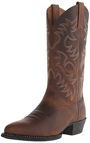 Ariat Men's Heritage Western R Toe Western Boot,  Distressed Brown,  10.5 B US