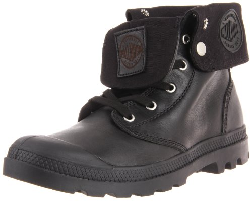 Palladium Men's Baggy Leather Boot,Black,10 M US