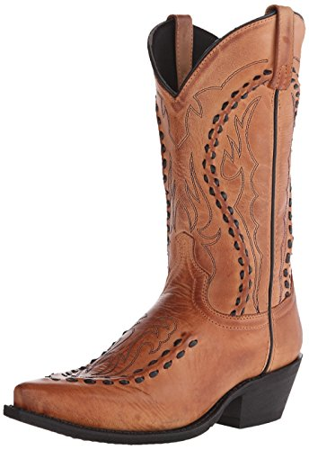 Laredo Men's Laramie Western Boot, Tan, 11.5 D US