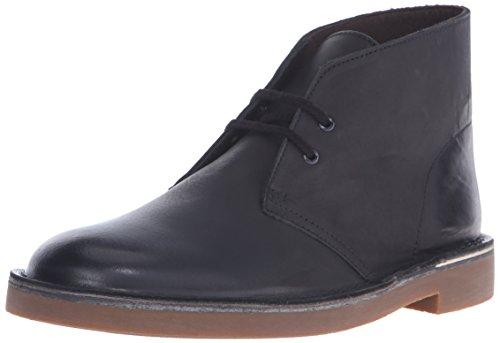 Clarks Men's Bushacre 2 Chukka Boot, Black Leather, 7.5 M US