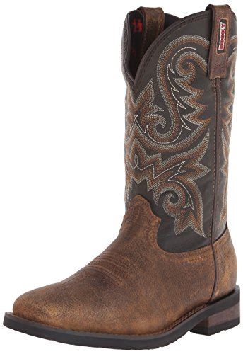 Rocky Men's 12 Inch Western Trail Bend Boot, Burnt Umber/Dark Brown, 11.5 M US