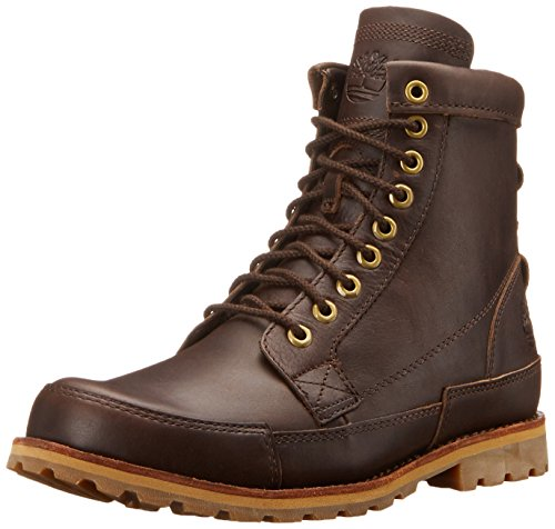 Timberland Men's EK Original Leather 6 Inch Boot, Mulch Forty, 12 M US