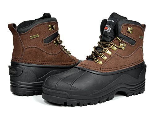 BRUNO HOMME Northern Water Proof Men Rubber Sole Winter Snow Boots