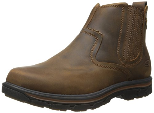 Skechers USA Men's Segment-Dorton Chukka Boot,Dark Brown,9 M US