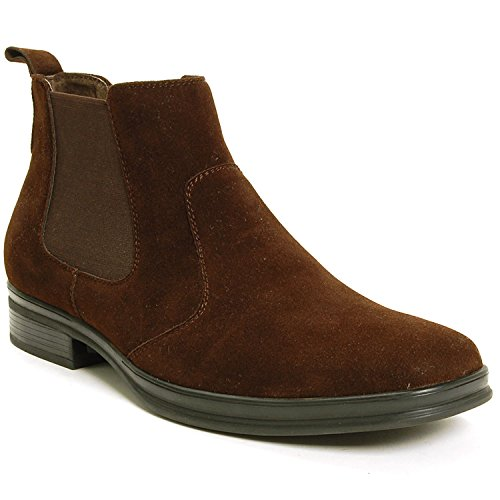 Alpine Swiss Sion Suede Mens Chelsea Ankle Boots Brown 7 M US