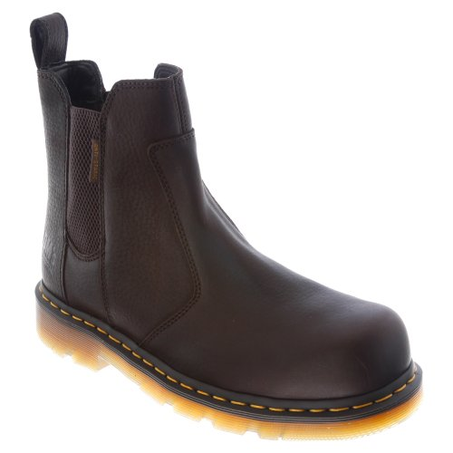 Dr. Martens Men's Fusion Safety Toe Chelsea Boot,Bark,12 UK/13 M US