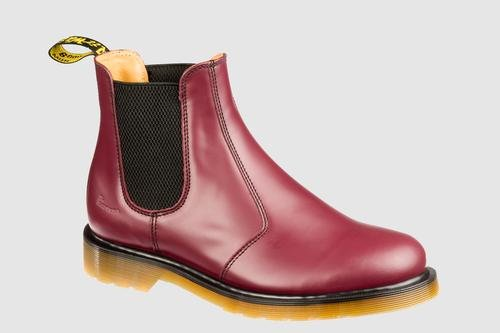 Dr. Martens 2976 Chelsea Boot,Cherry Red Smooth,8 UK (Women's 10 M US/Men's 9 M US)