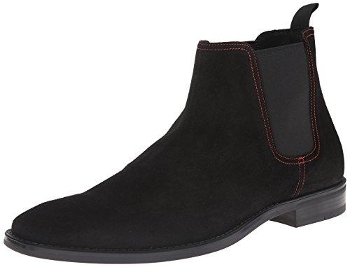 Donald J Pliner Men's Barton Chelsea Boot, Black Suede, 10.5 M US