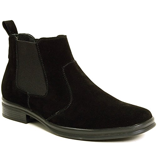 Alpine Swiss Sion Suede Mens Chelsea Ankle Boots Black 13 M US