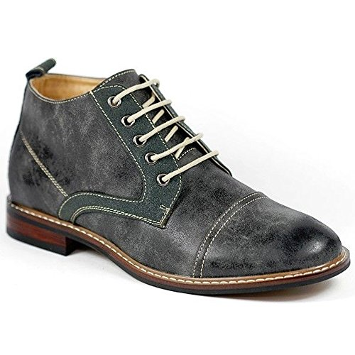 Ferro Aldo MFA-506013 Men's Gray # 506 Lace Up Cap Toe Dress Ankle Boot Shoes