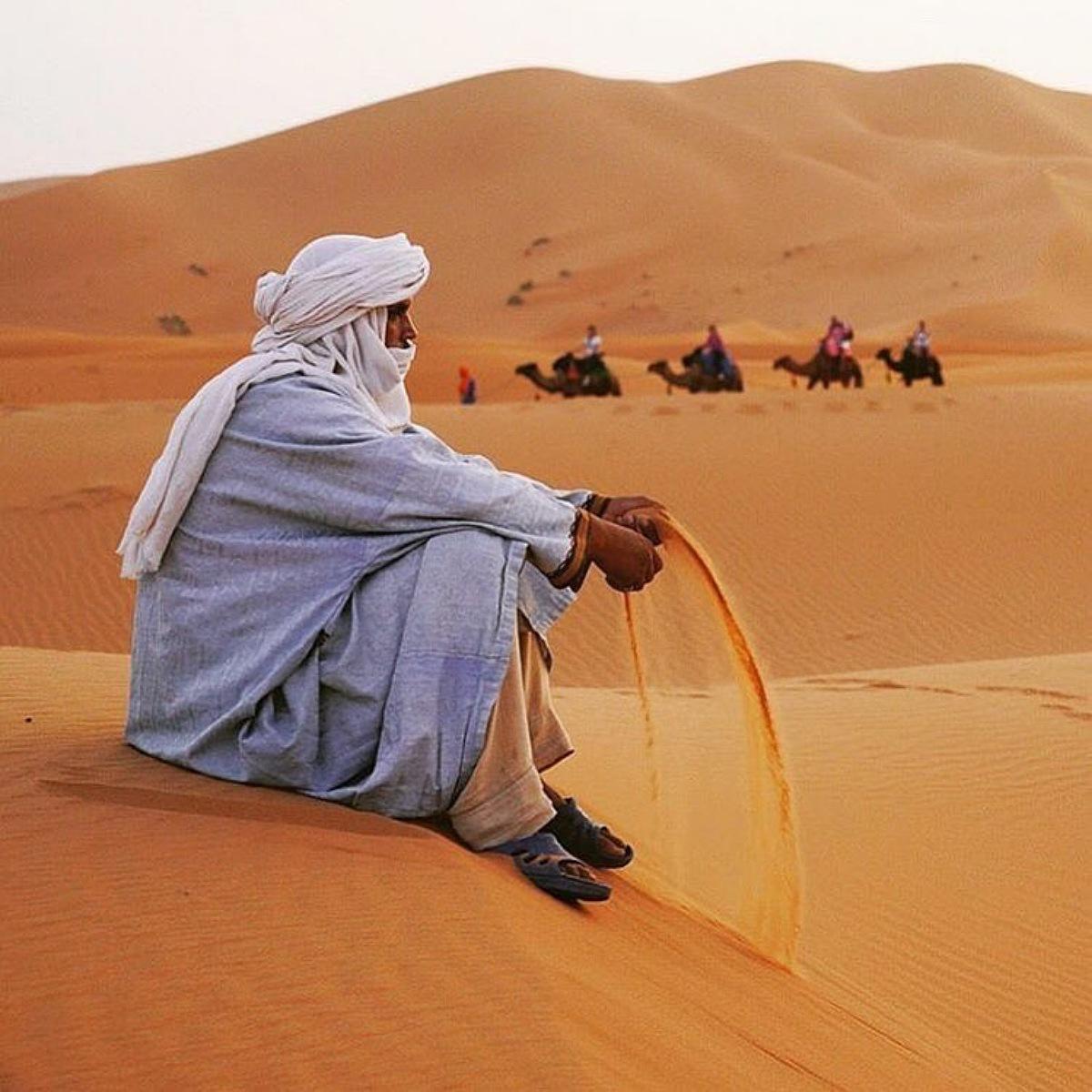 yoga in Merzouga desert