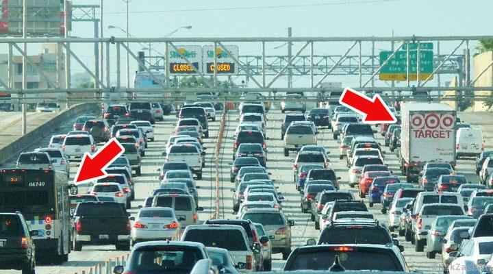 Urmăriți manevrele mijloacelor înalte de transport