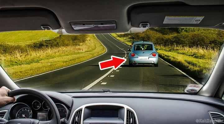 8. Dacă mașina din față încetinește