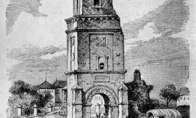 Turnul Colțea după cutremur