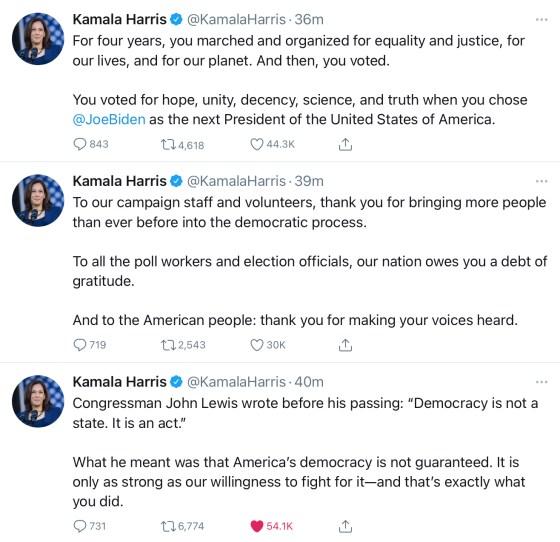 Live Tweet Kamela Harris