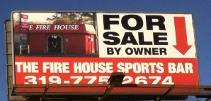 Fire House Sports Bar for sale via billboard
